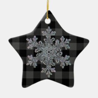 Graues und schwarzes kariertes des Landes - Keramik Ornament