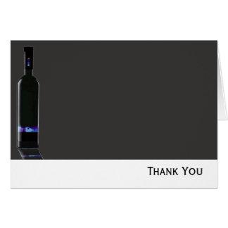 Graues und schwarzes Wein-Flaschen-Geschäft Mitteilungskarte