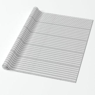 Graues und weißes gestreiftes Packpapier Geschenkpapier