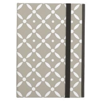 Graues und weißes Quatrefoil Muster