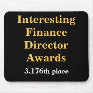 Grausamer Finanzdirektor Joke Spoof Awards Mauspads