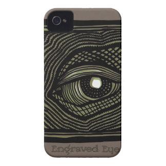 Graviertes Auge iPhone 4 Case-Mate Hülle