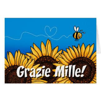 Grazie mille! (Italiener danken Ihnen Karte) Grußkarte