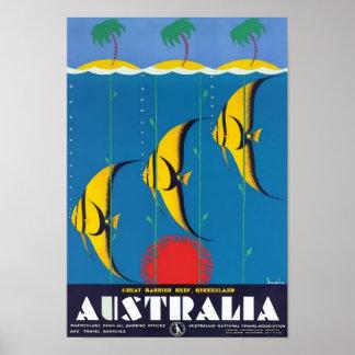 Great Barrier Reef Australien Vintages Poster