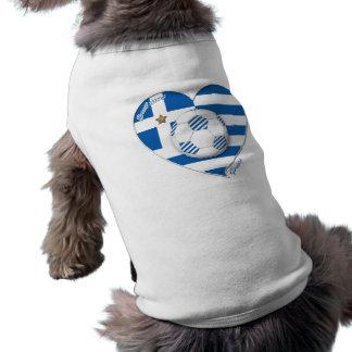 """""""GREECE"""" Team soccer. Fußball Griechenland 2014 Fo Ärmelfreies Hunde-Shirt"""