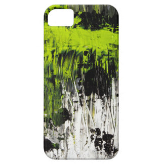 Green abstract art painting phone case