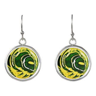 """Green Bay-"" Tropfen-Ohrringe Le Liza Designs Ohrringe"