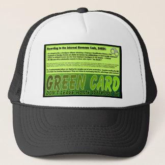 Green Card bitte! Truckerkappe