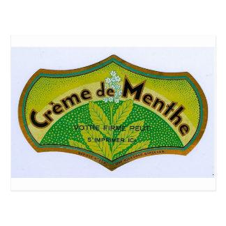 Green Creme de Menthe Postkarte