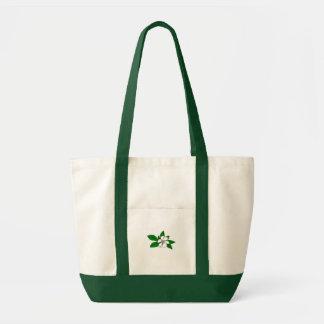 Green flower sac en toile impulse