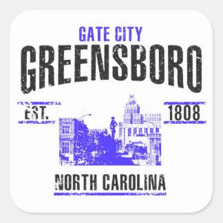 Greensboro Quadratischer Aufkleber
