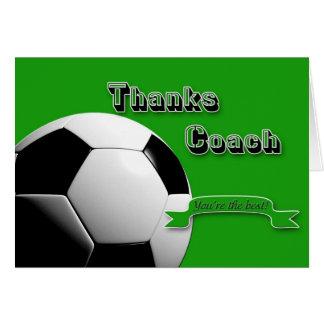 GreenThanks Fußball-Trainer Karte