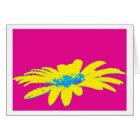 Greeting card daisy flowers Pop Art Karte