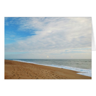 GreetingCard: Strandabdrücke Grußkarte