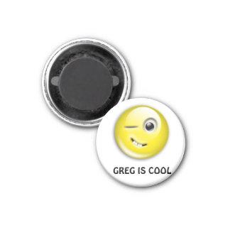 GREG EST FRAIS MAGNET CARRÉ 2,50 CM