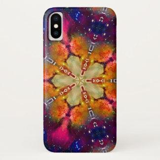 Gregorianischer mystischer Stern-Mandala-Kasten iPhone X Hülle