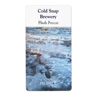 Greller Frost ~ Bier-Wein-Aufkleber Großer Adressaufkleber
