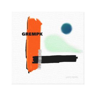 GREMPK Konzept-Kunst-Leinwand-Druck Gary Revel Leinwanddruck