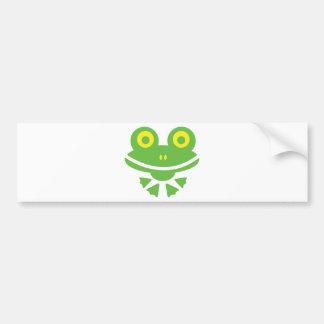 Grenouille - frog autocollant de voiture
