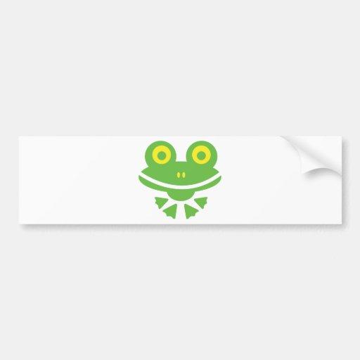 Grenouille - frog autocollants pour voiture