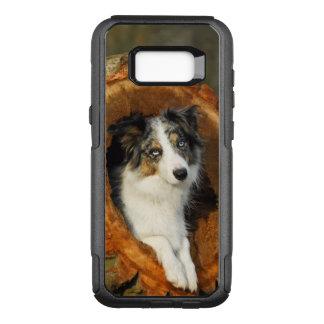 Grenzcollie blaues Merle HundeFoto - Commutercase OtterBox Commuter Samsung Galaxy S8+ Hülle