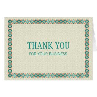 Grenzen u. Muster 3 danken Ihnen für Ihr Geschäft Mitteilungskarte
