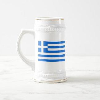 Griechenland-Flagge ~ Karten-Tasse Bierkrug