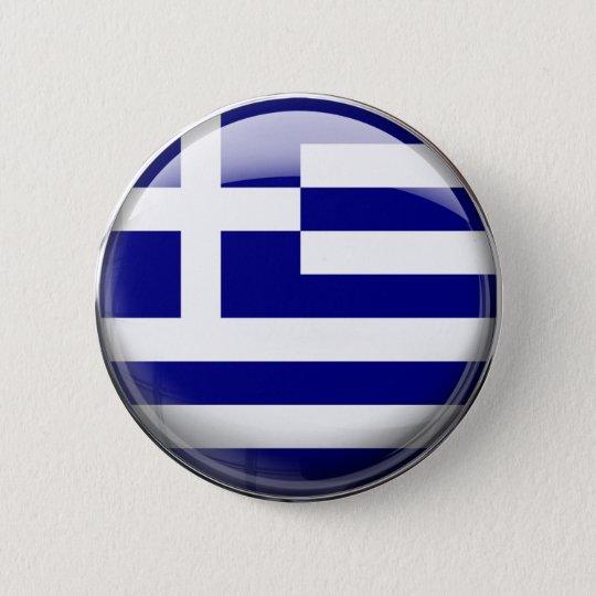 Griechenland-Flagge Runder Button 5,7 Cm