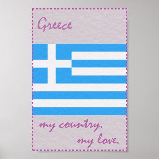 Griechenland mein Land meine Liebe Poster