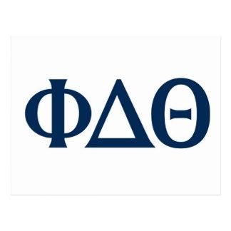 Griechische Buchstaben - Blau Postkarte