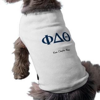 Griechische Buchstaben - Blau Shirt