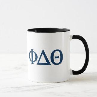 Griechische Buchstaben - Blau Tasse