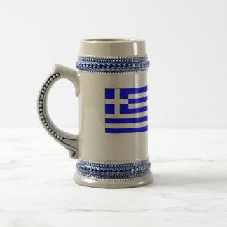 Griechische Flagge Bierkrug