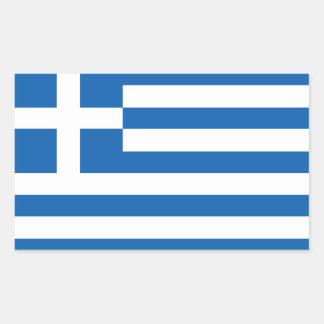Griechische Flaggenaufkleber Rechteckiger Aufkleber