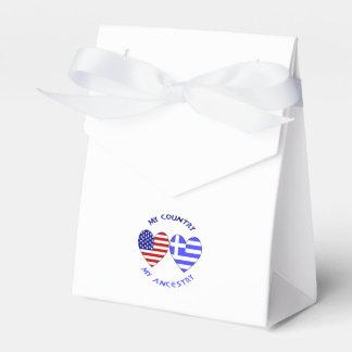 Griechische Herz-Flaggen-Land-Herkunft Geschenkschachtel