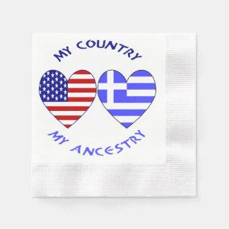 Griechische Herz-Flaggen-Land-Herkunft Serviette