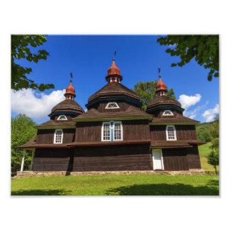 Griechische katholische Kirche, Nizny Komarnik, Photo Druck