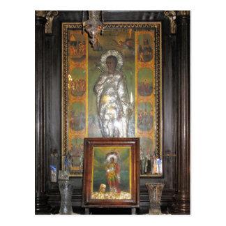 Griechische orthodoxe religiöse Ikone eines Postkarte