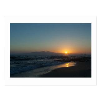 Griechischer Insel-Sonnenuntergang Postkarte