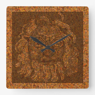 Griechischer Mosaik-Stein Quadratische Wanduhr