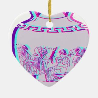 Griechischer Vase Keramik Herz-Ornament