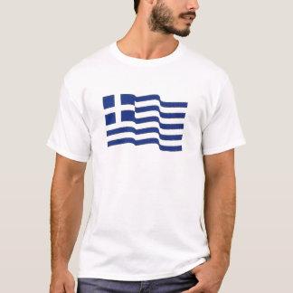 griechisches fahnenschwenkendes T-Shirt