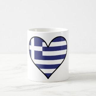 Griechisches Flaggen-Herz Kaffeetasse