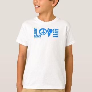 Griechisches Liebe-Friedensflaggen-Jugend-Shirt T-Shirt