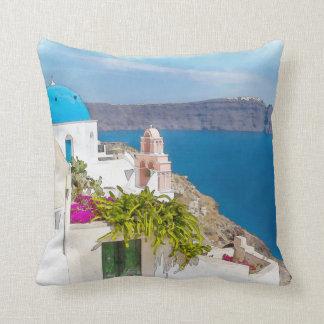 Griechisches Paradies. Aquarellmalerei von Kissen