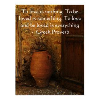 Griechisches Sprichwort über Liebe Postkarte