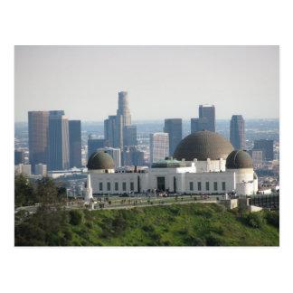 Griffith-Observatorium und im Stadtzentrum Postkarte
