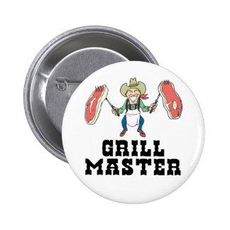 Grill-Vorlagencowboy Anstecknadel
