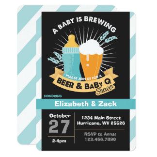 GRILLEN-Bier Baby-Duschen-Einladung Karte