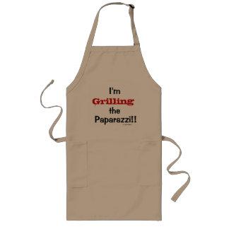 Grillen des Paprazzi lustigen Witz-Zitat-Geschenks Lange Schürze